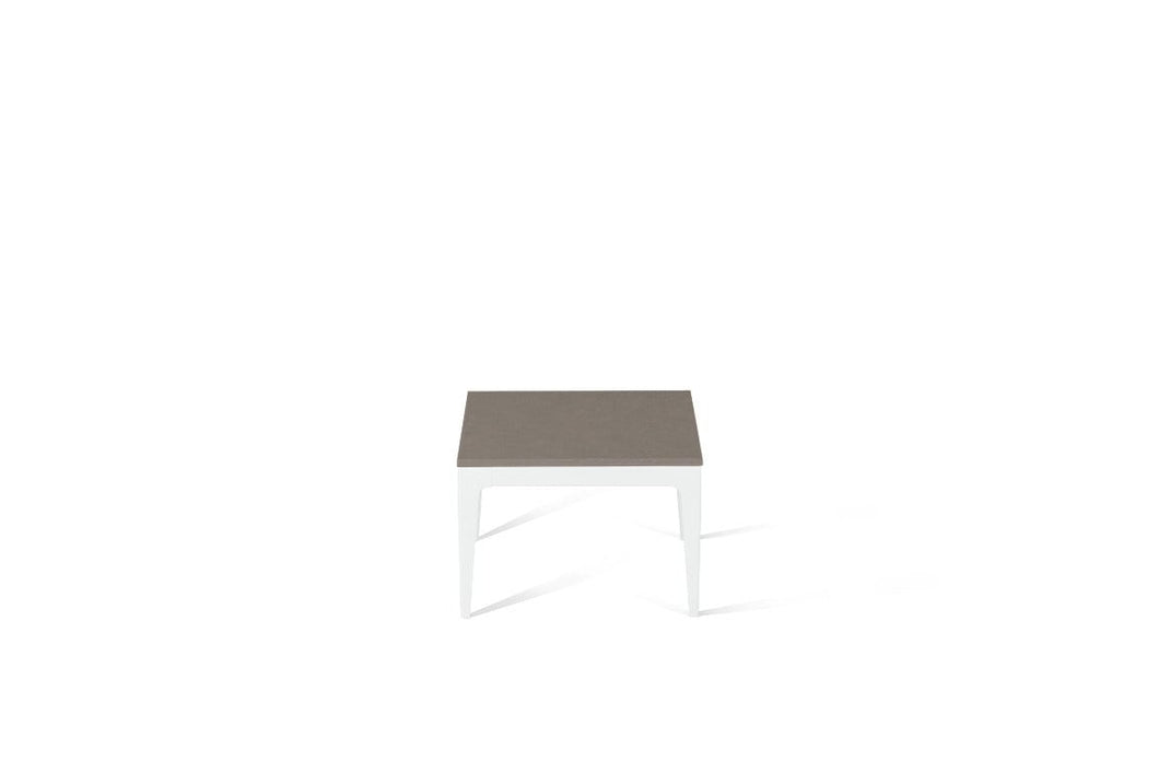 Oyster Cube Side Table Pearl White