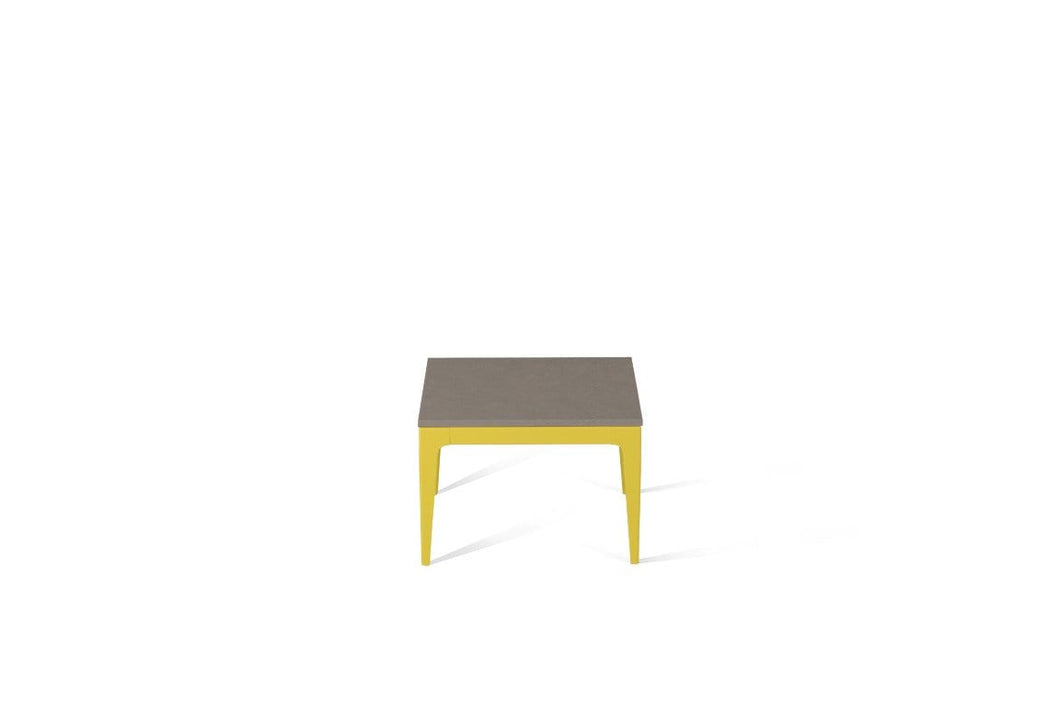 Oyster Cube Side Table Lemon Yellow