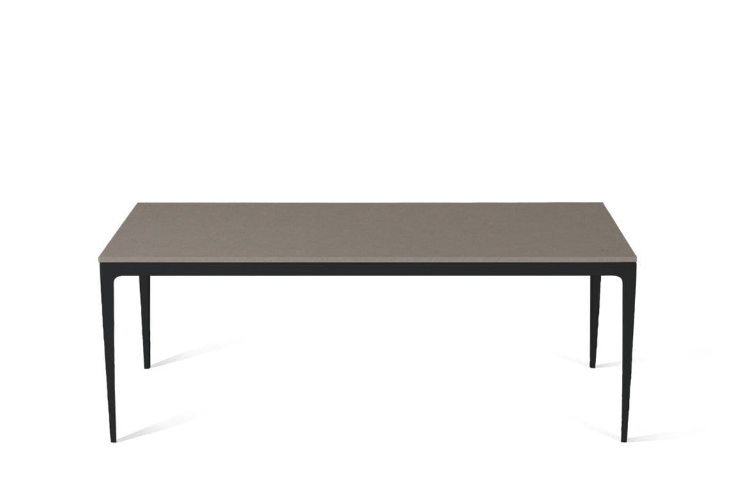 Oyster Long Dining Table Matte Black