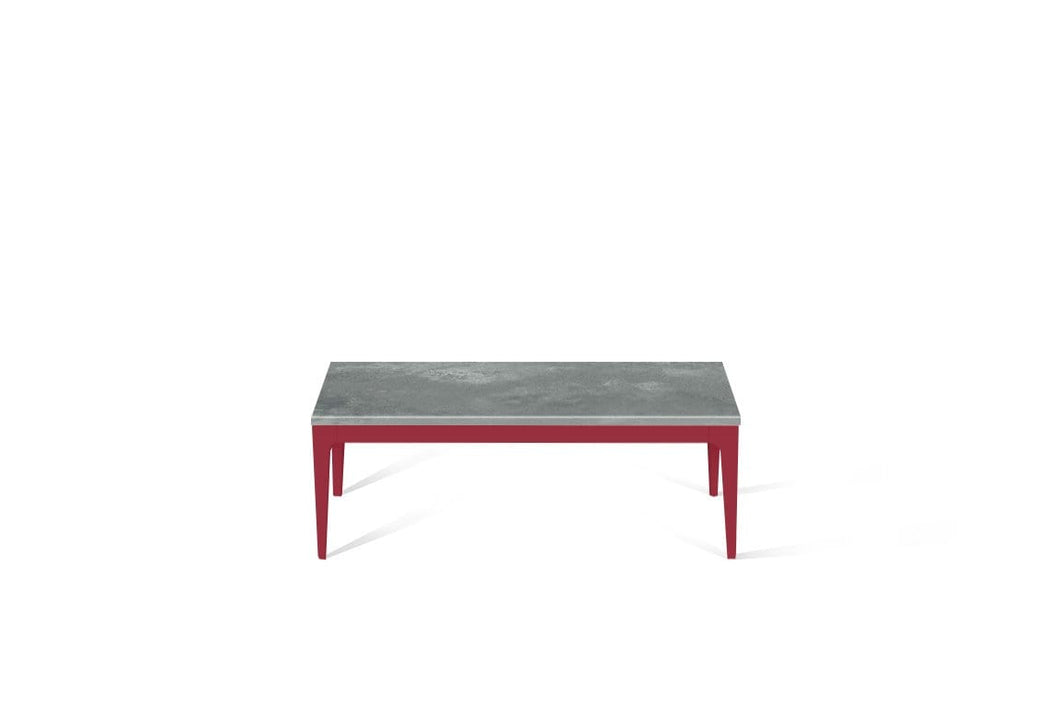 Rugged Concrete Coffee Table Flame Red