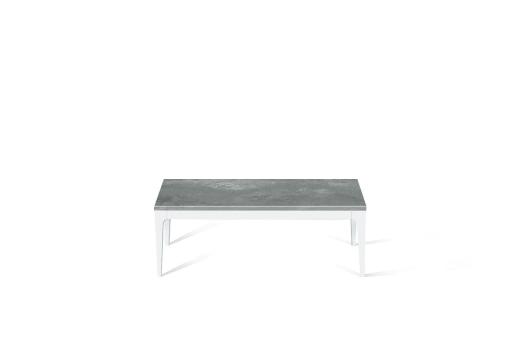 Rugged Concrete Coffee Table Pearl White