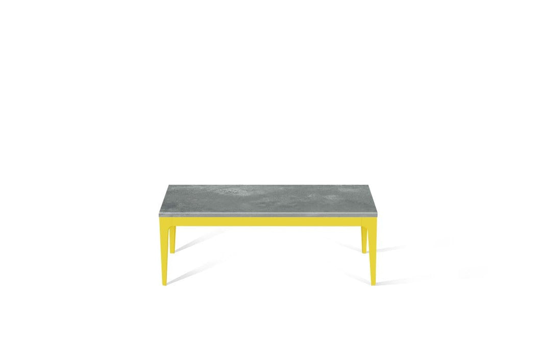 Rugged Concrete Coffee Table Lemon Yellow