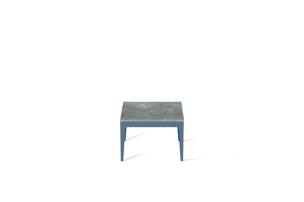 Rugged Concrete Cube Side Table Wedgewood