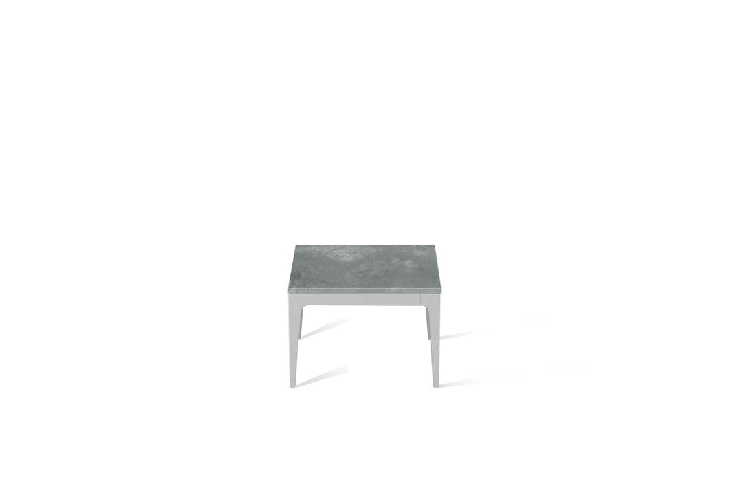 Rugged Concrete Cube Side Table Oyster