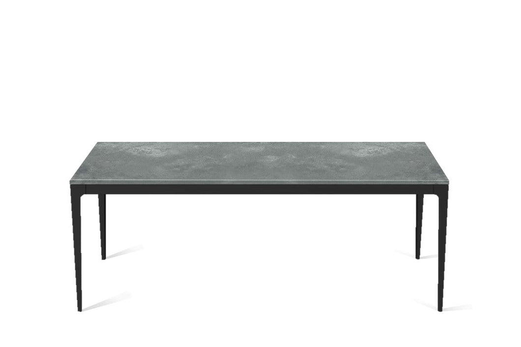 Rugged Concrete Long Dining Table Matte Black