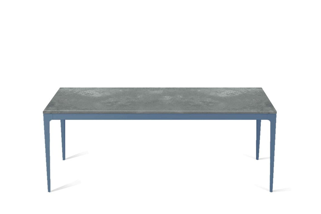 Rugged Concrete Long Dining Table Wedgewood