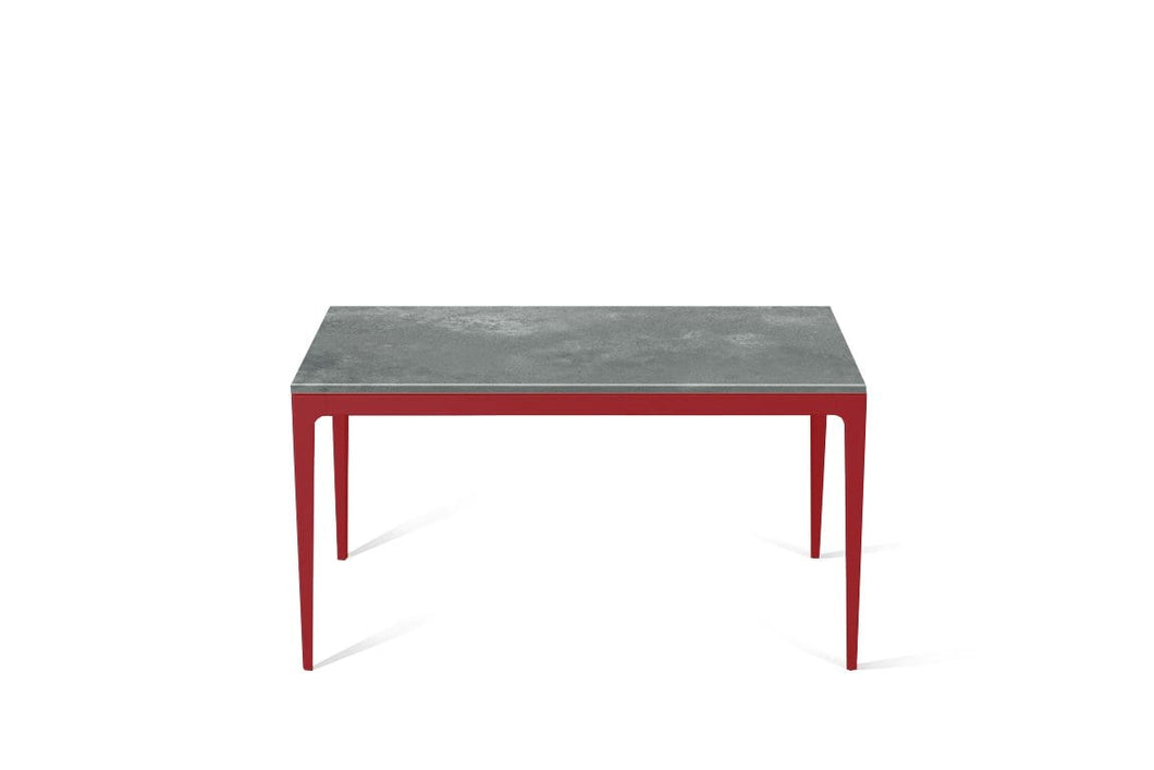Rugged Concrete Standard Dining Table Flame Red