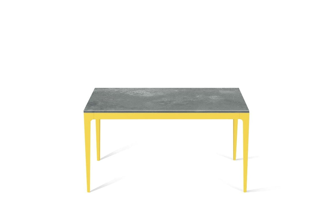 Rugged Concrete Standard Dining Table Lemon Yellow