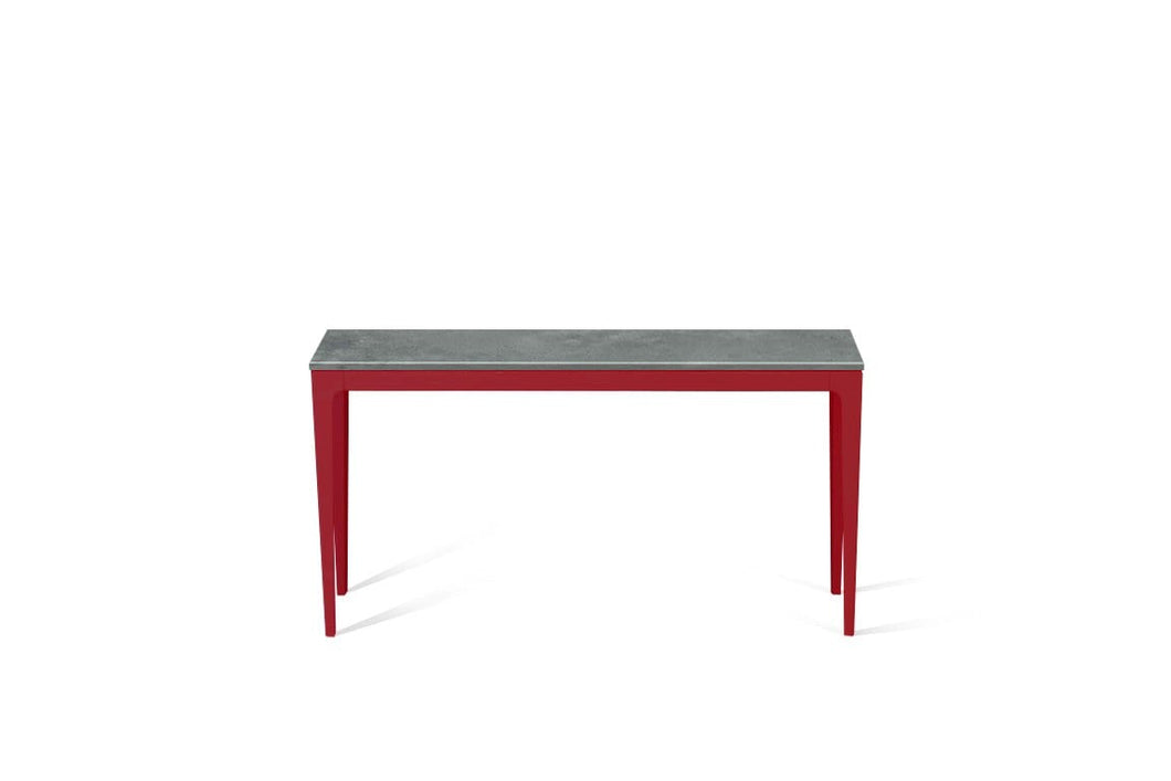 Rugged Concrete Slim Console Table Flame Red