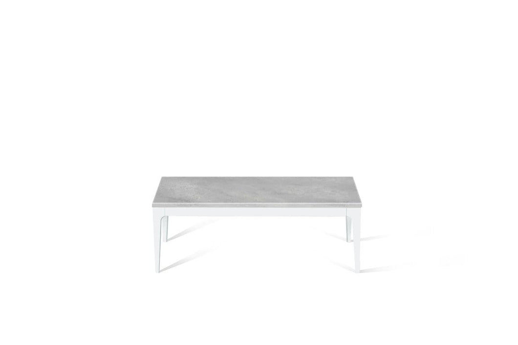 Airy Concrete Coffee Table Pearl White