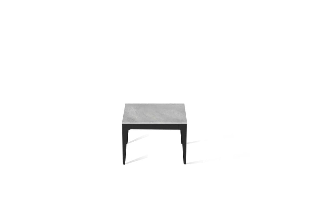 Airy Concrete Cube Side Table Matte Black
