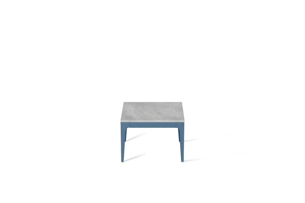 Airy Concrete Cube Side Table Wedgewood
