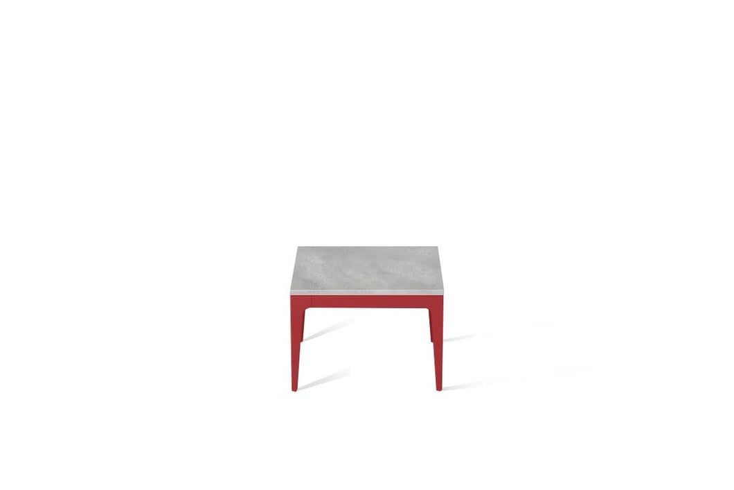 Airy Concrete Cube Side Table Flame Red