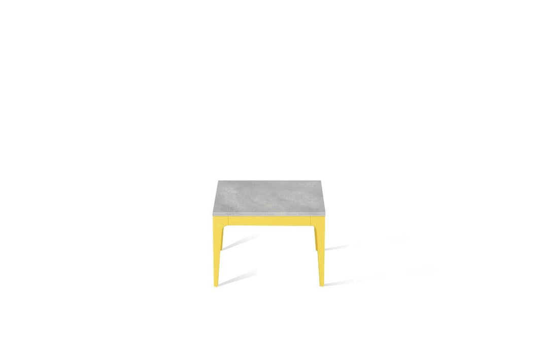 Airy Concrete Cube Side Table Lemon Yellow