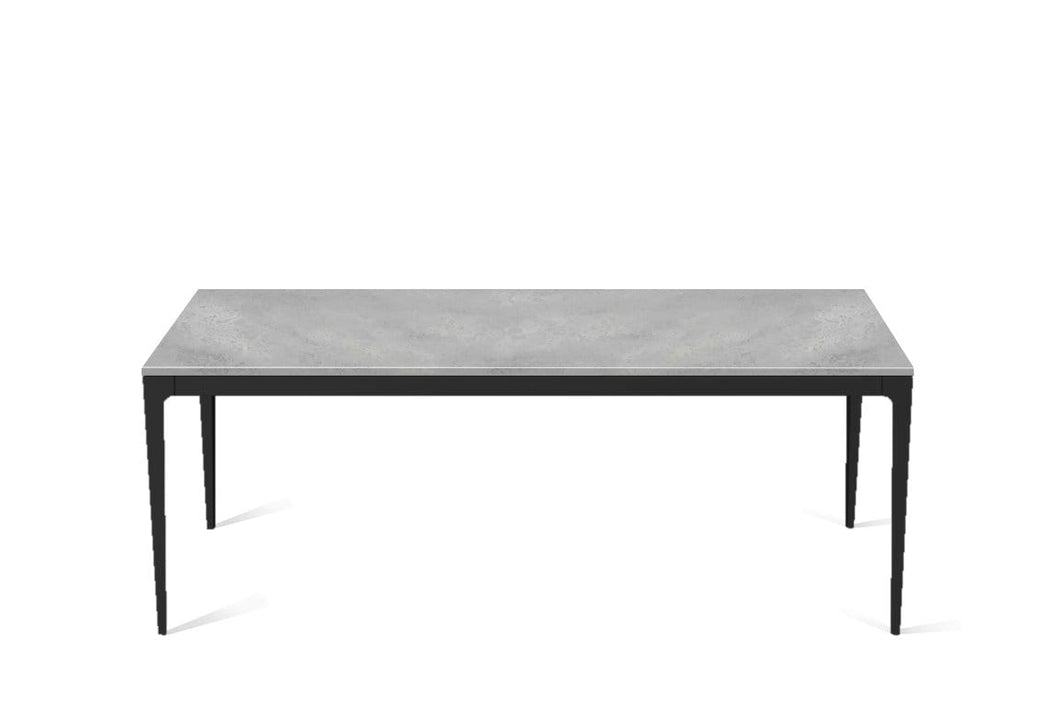 Airy Concrete Long Dining Table Matte Black