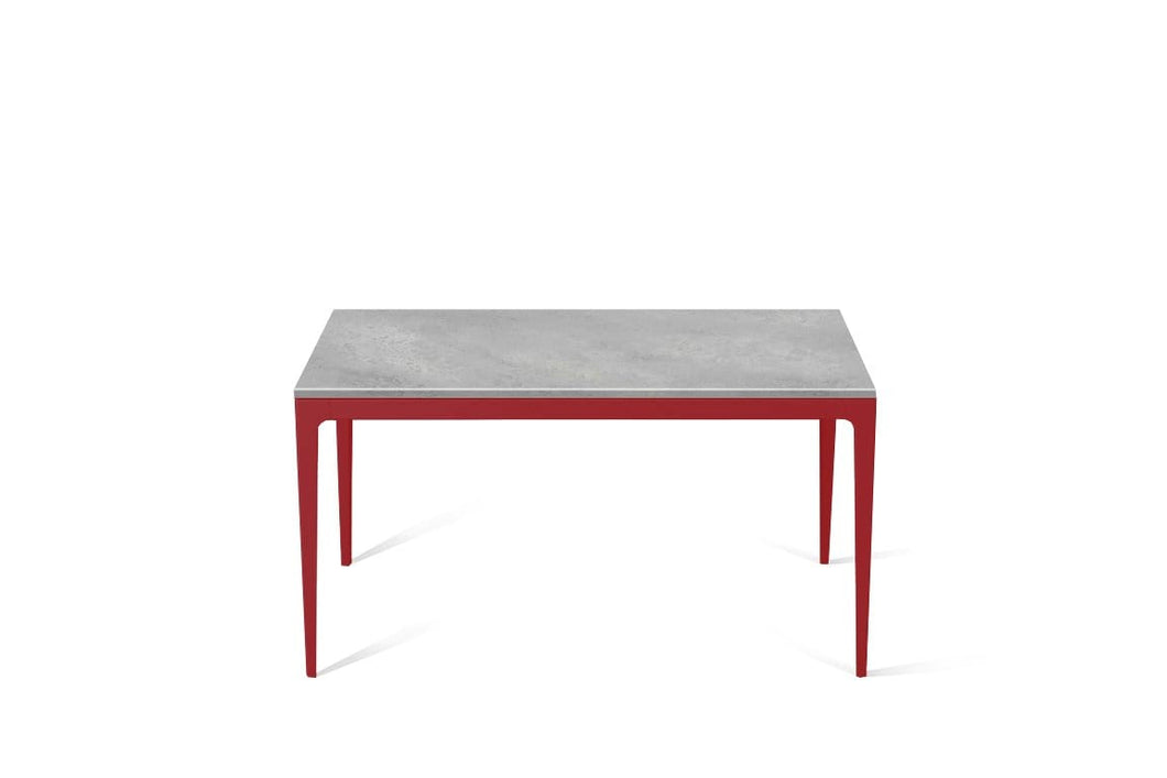 Airy Concrete Standard Dining Table Flame Red