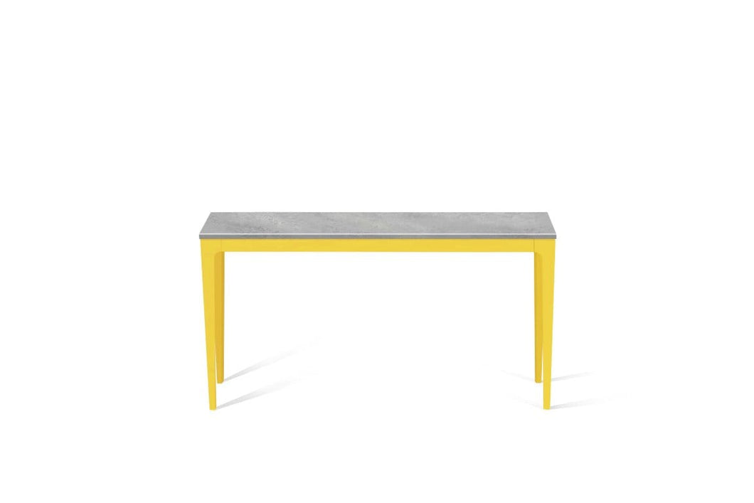 Airy Concrete Slim Console Table Lemon Yellow