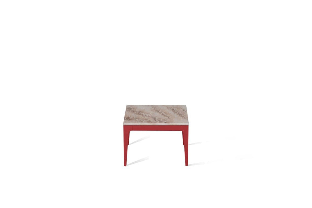 Excava Cube Side Table Flame Red