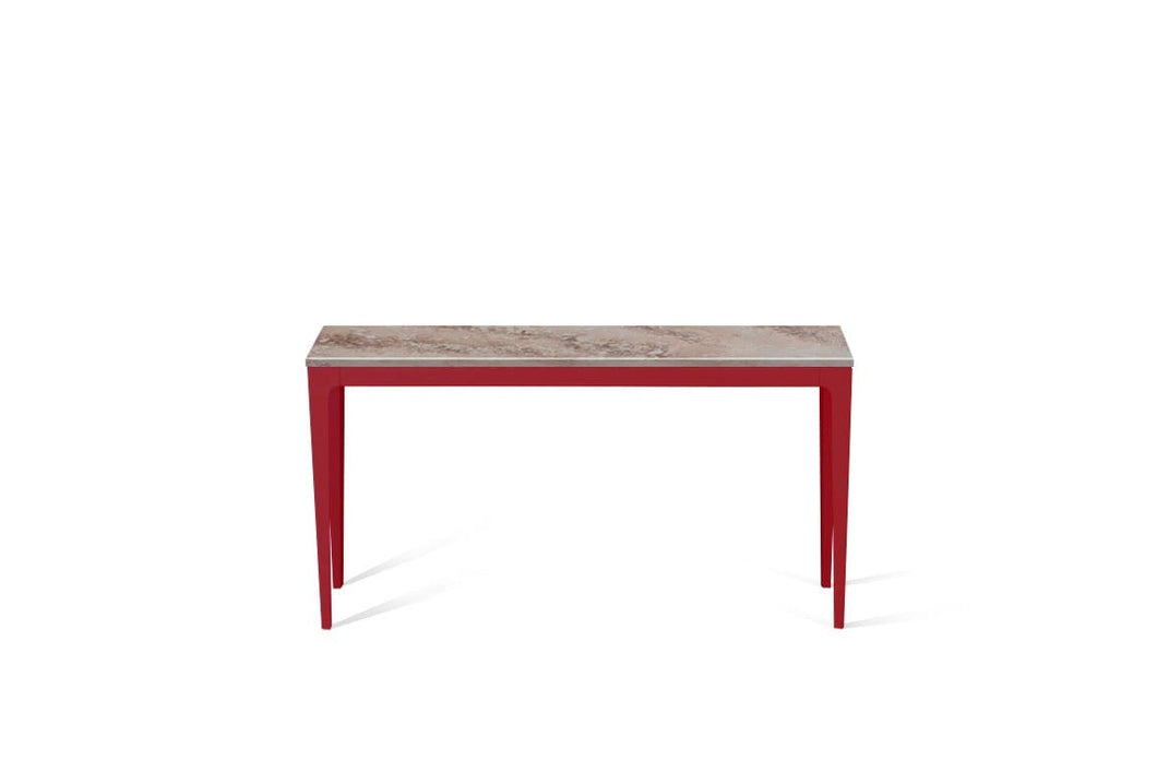 Excava Slim Console Table Flame Red