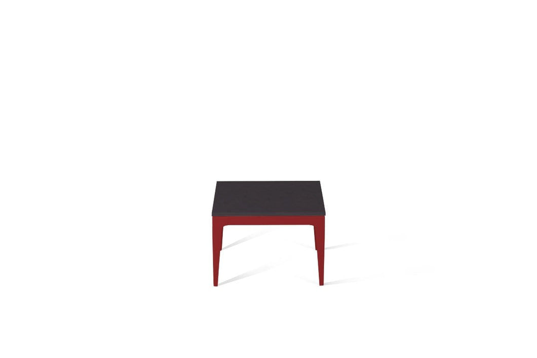 Raven Cube Side Table Flame Red