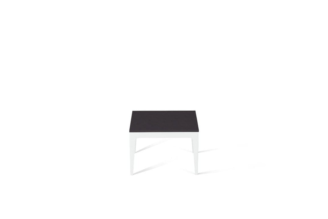 Raven Cube Side Table Pearl White