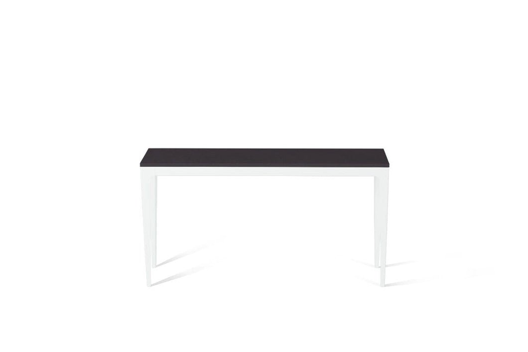 Raven Slim Console Table Pearl White
