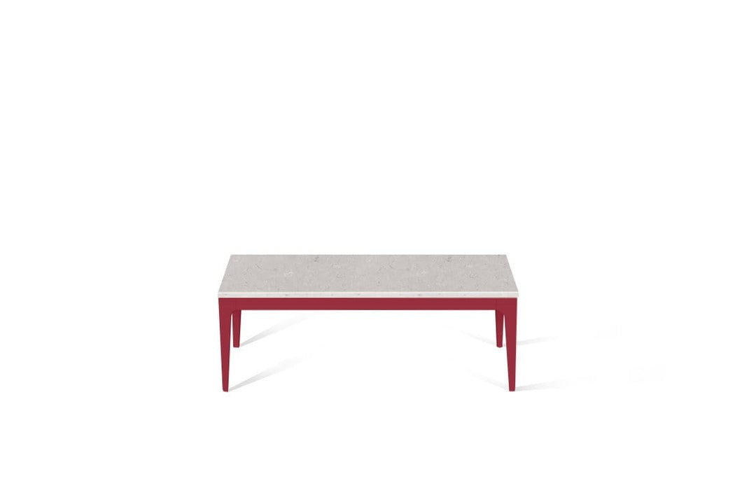 Clamshell Coffee Table Flame Red