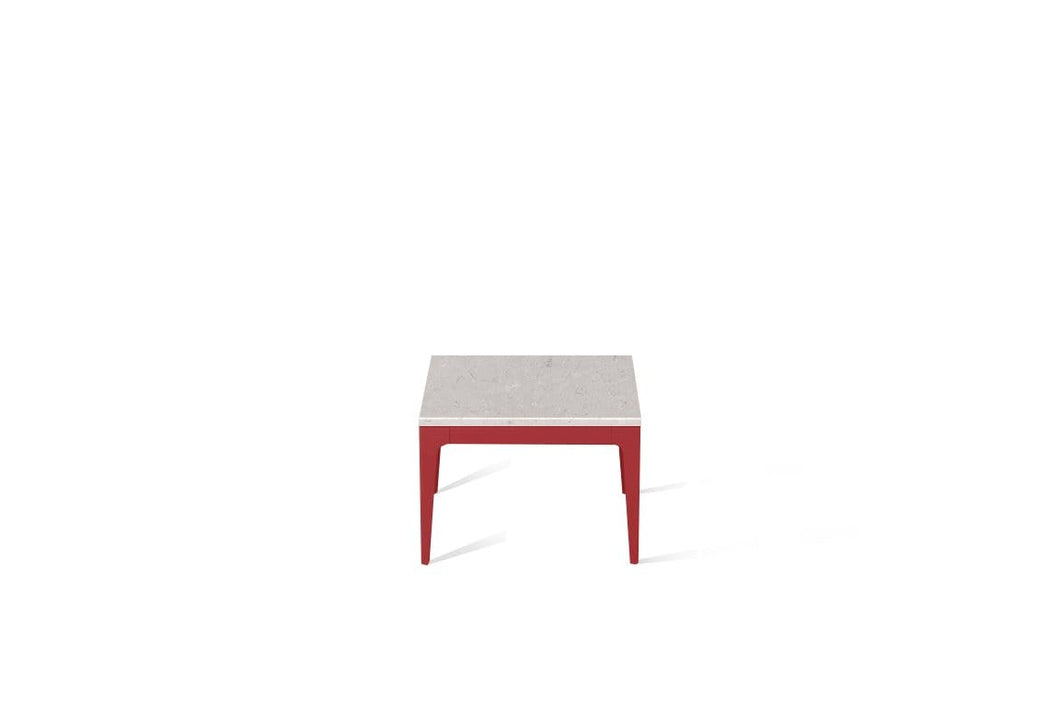 Clamshell Cube Side Table Flame Red