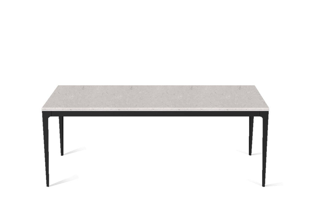 Clamshell Long Dining Table Matte Black