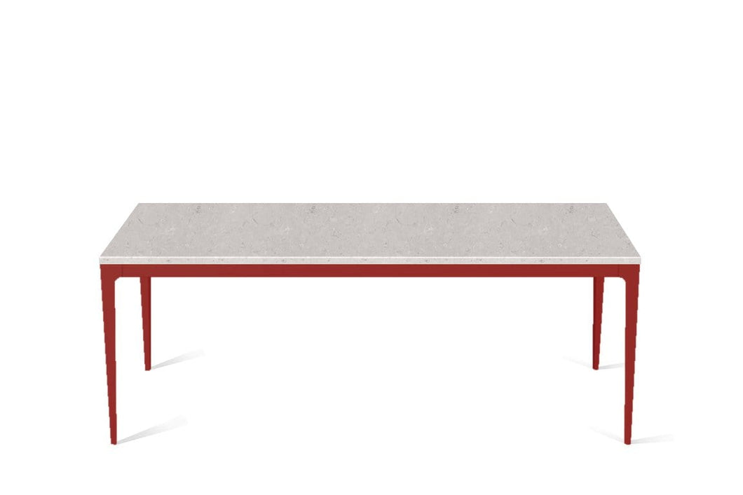 Clamshell Long Dining Table Flame Red