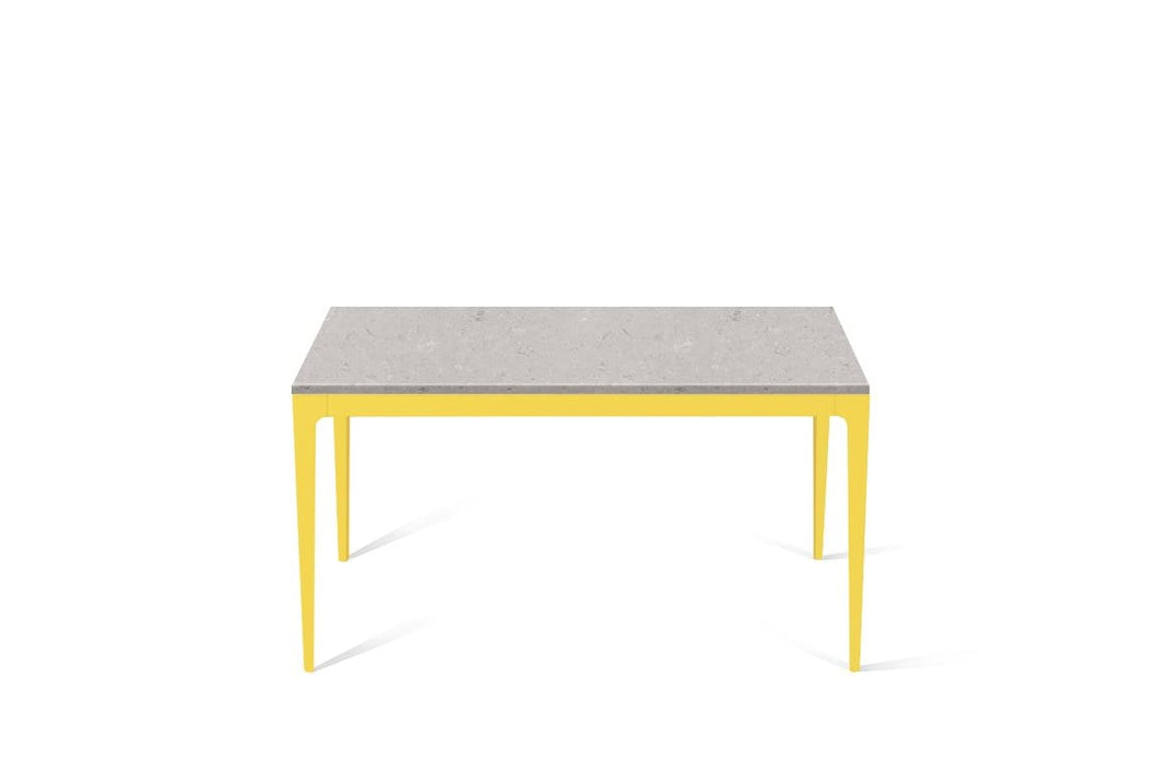 Clamshell Standard Dining Table Lemon Yellow