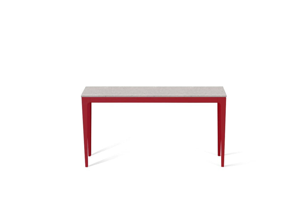 Clamshell Slim Console Table Flame Red
