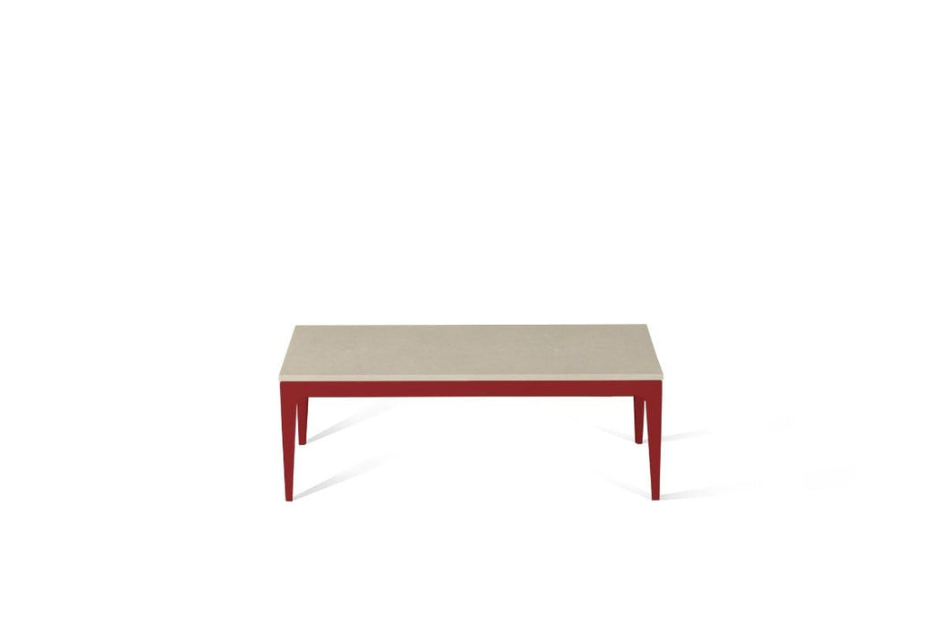 Buttermilk Coffee Table Flame Red
