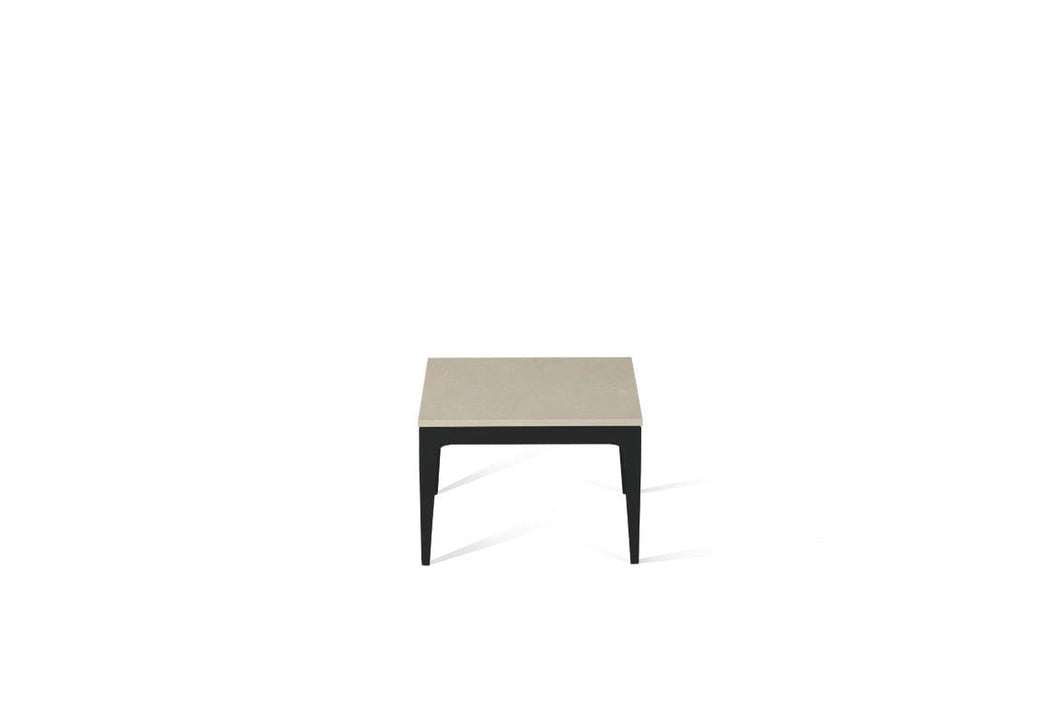 Buttermilk Cube Side Table Matte Black