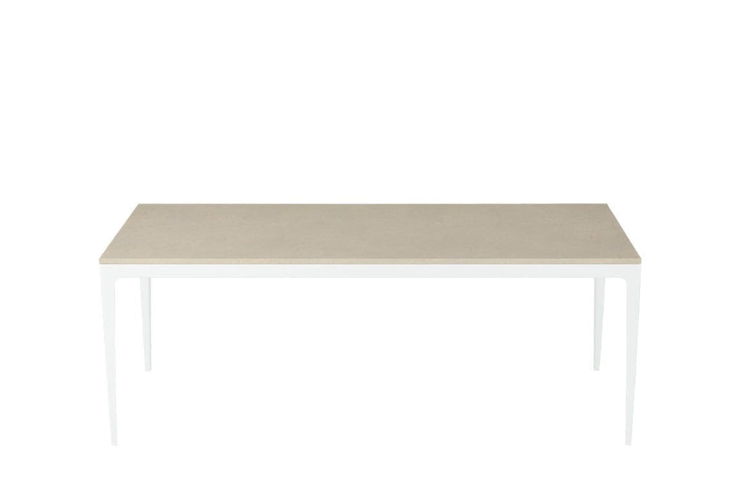 Buttermilk Long Dining Table Pearl White