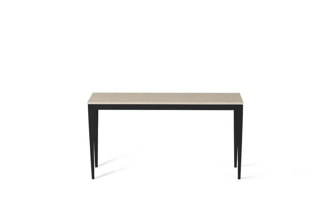 Buttermilk Slim Console Table Matte Black