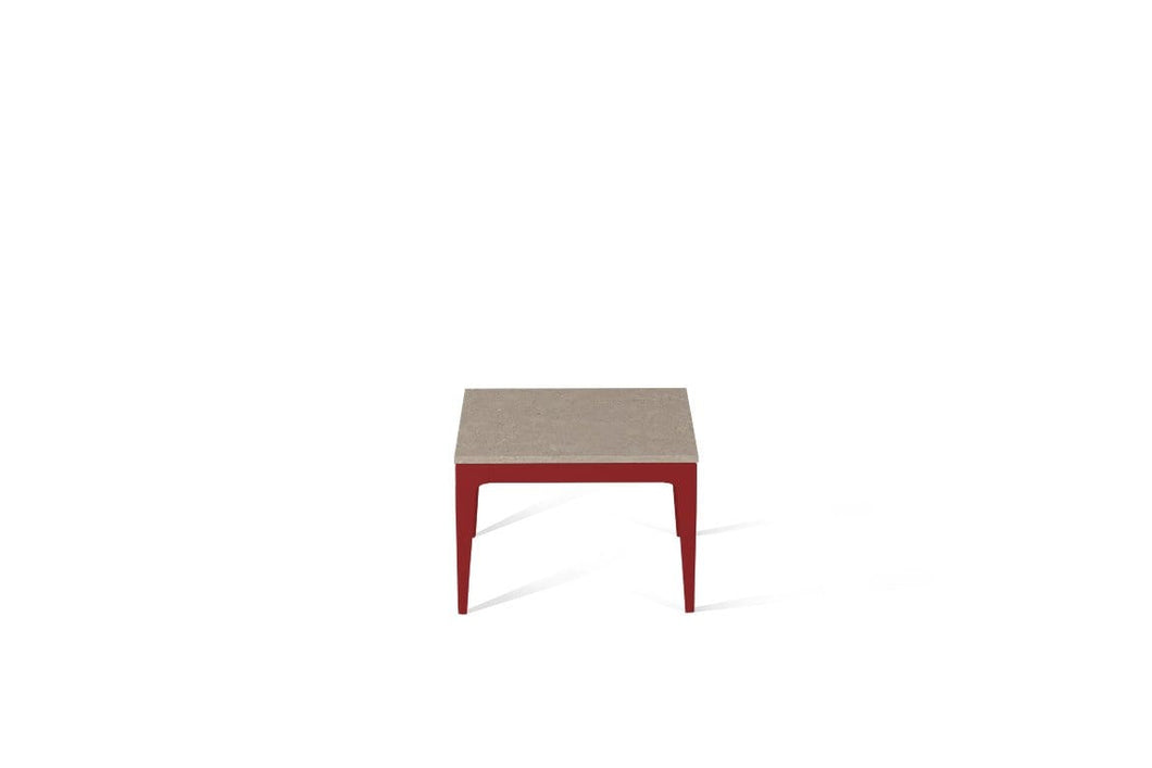 Shitake Cube Side Table Flame Red