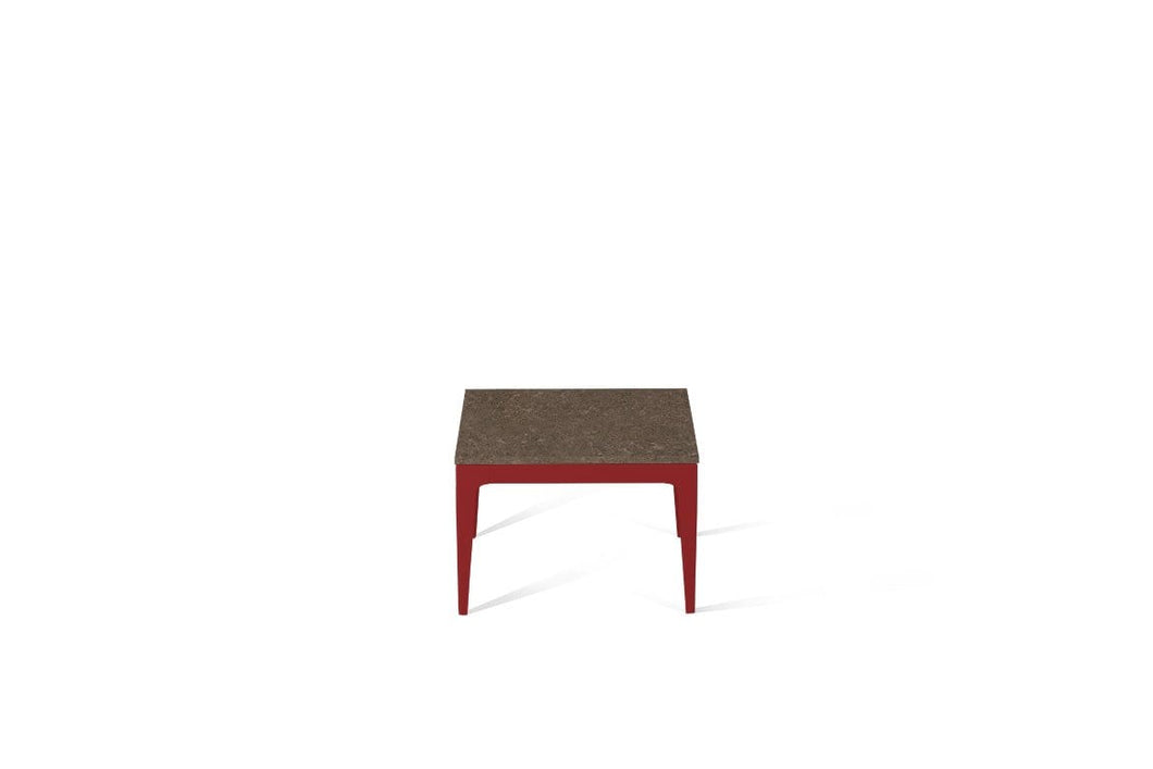 Wild Rice Cube Side Table Flame Red