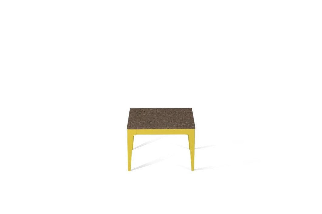 Wild Rice Cube Side Table Lemon Yellow