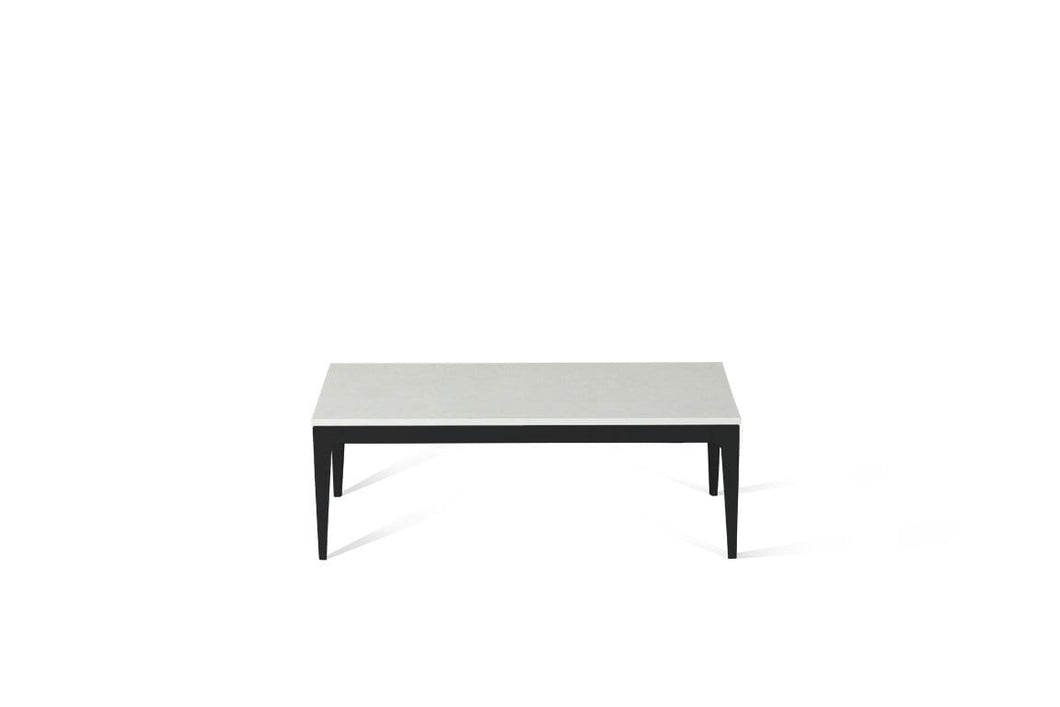 Organic White Coffee Table Matte Black