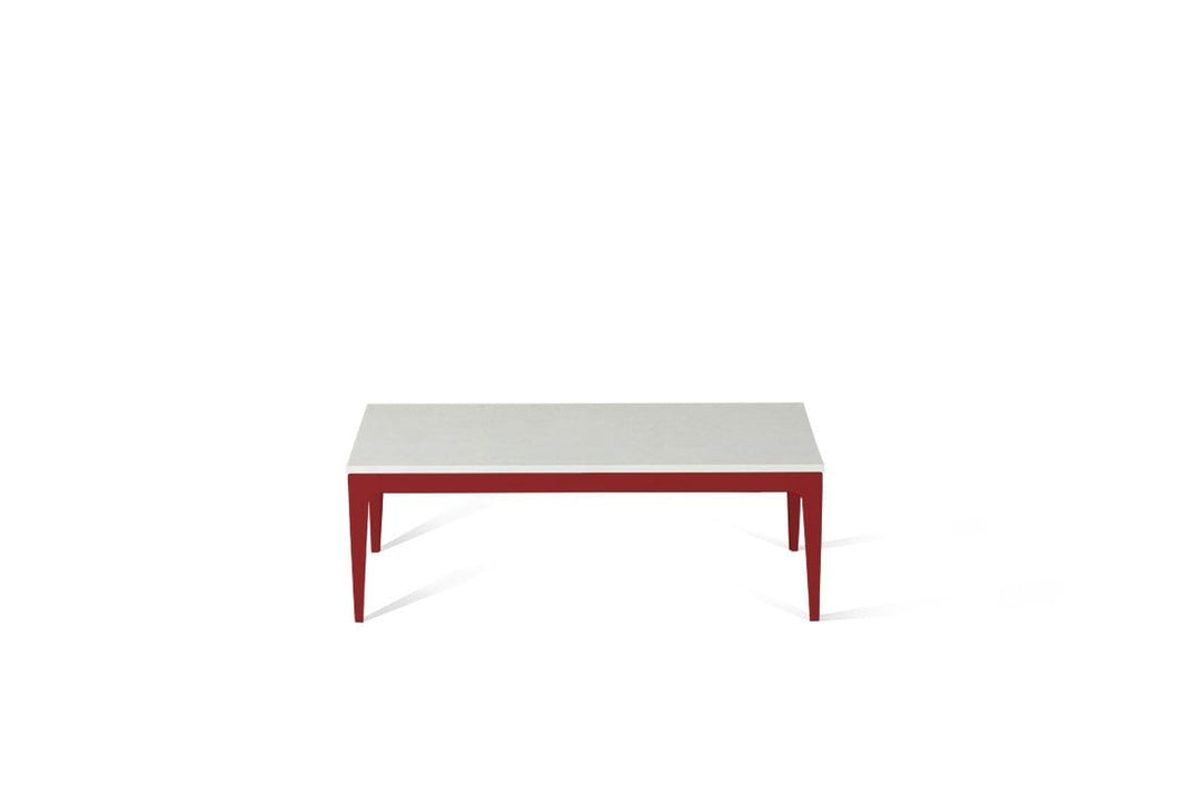 Organic White Coffee Table Flame Red