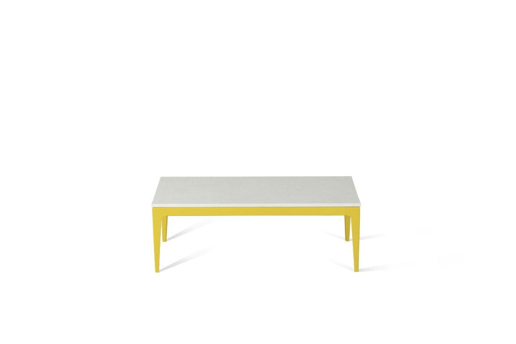 Organic White Coffee Table Lemon Yellow