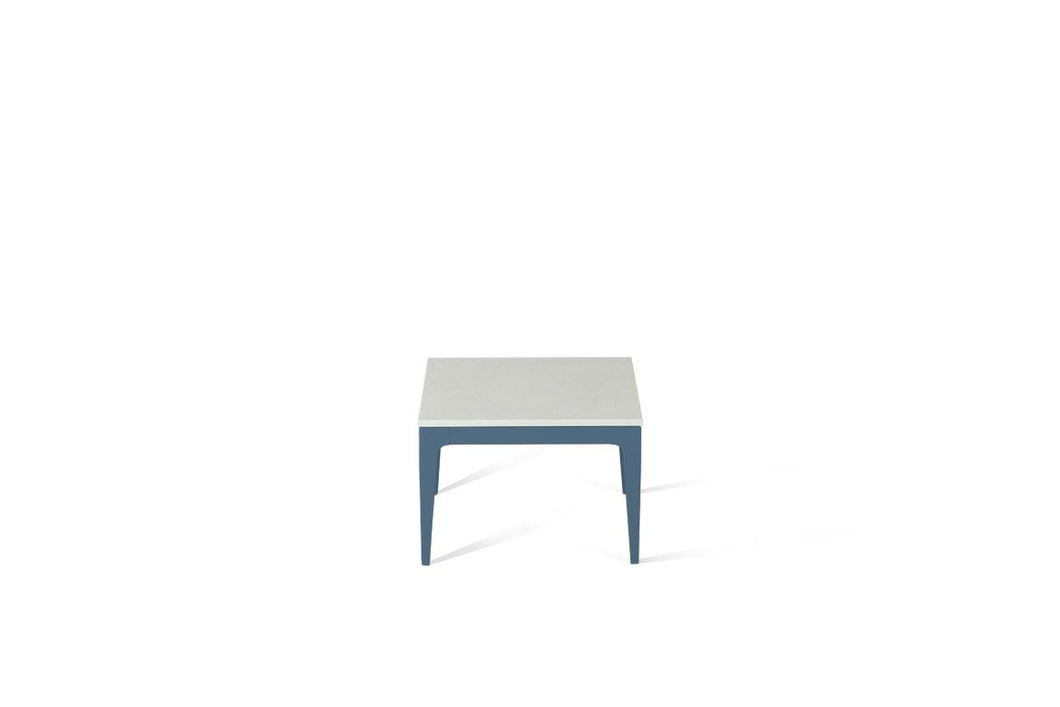 Organic White Cube Side Table Wedgewood