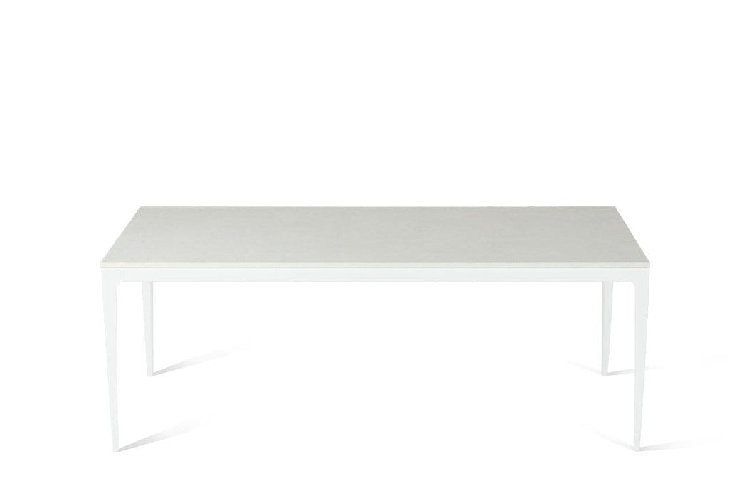 Organic White Long Dining Table Pearl White