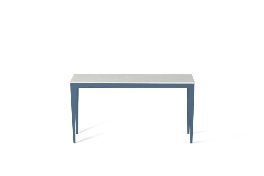 Organic White Slim Console Table Wedgewood