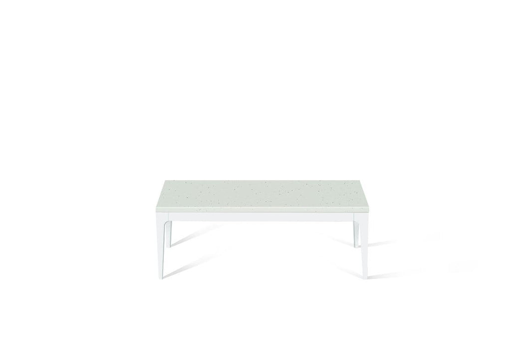 Frozen Terra Coffee Table Pearl White