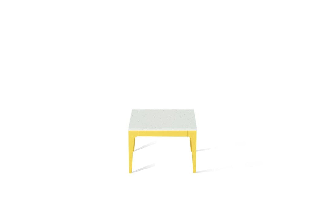 Frozen Terra Cube Side Table Lemon Yellow