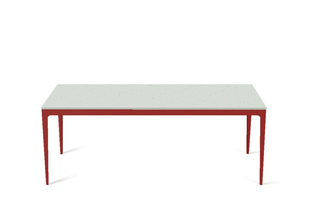 Frozen Terra Long Dining Table Flame Red
