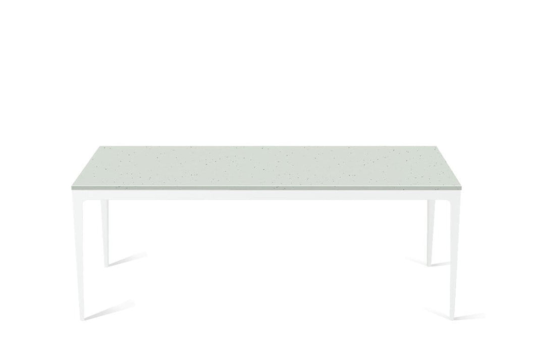 Frozen Terra Long Dining Table Pearl White