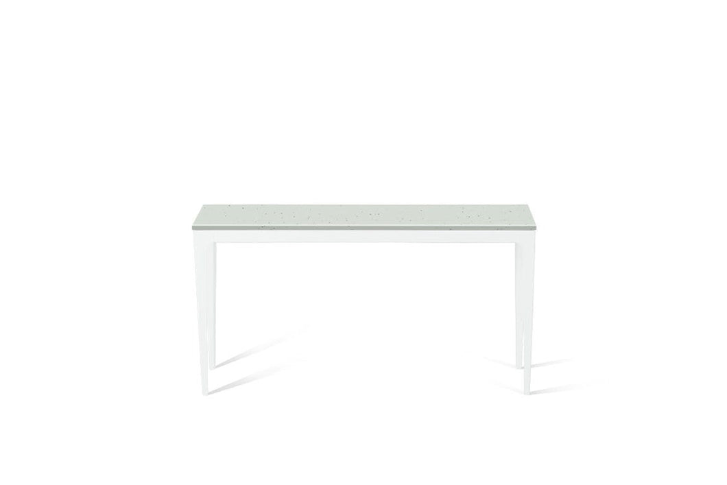 Frozen Terra Slim Console Table Pearl White